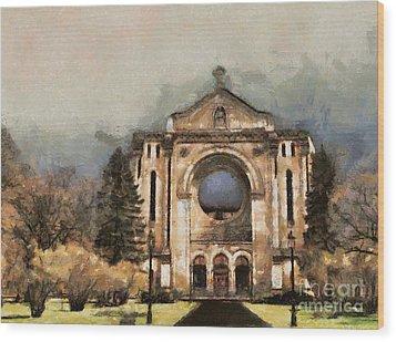 Painted Basilica Wood Print by Teresa Zieba