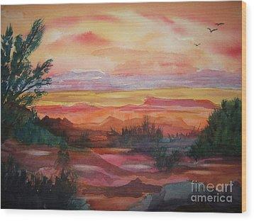 Painted Desert II Wood Print by Ellen Levinson