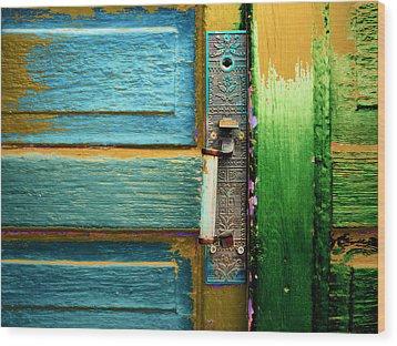 Painted Doors Wood Print