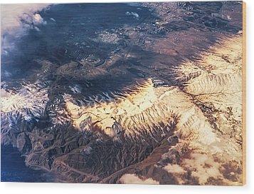 Painted Earth Iv Wood Print by Jenny Rainbow