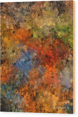 Painted Fall Abstract Wood Print by Andrea Auletta