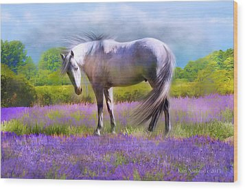Wood Print featuring the digital art Painted For Lavender by Kari Nanstad