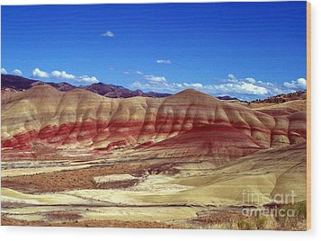 Painted Hills Wood Print by Chalet Roome-Rigdon