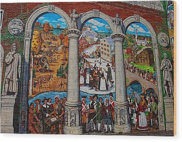 Painted History 2 Wood Print by Joann Vitali
