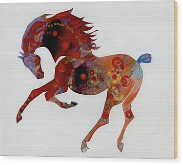 Painted Horse A Wood Print by Mary Armstrong