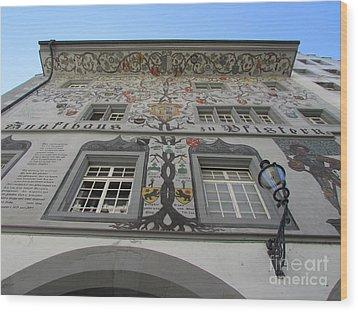 Painted House On The Rathaussteg Wood Print