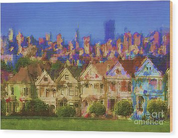 Painted Ladies Wood Print by Andrea Auletta