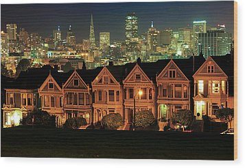 Painted Ladies Wood Print by Robert  Aycock