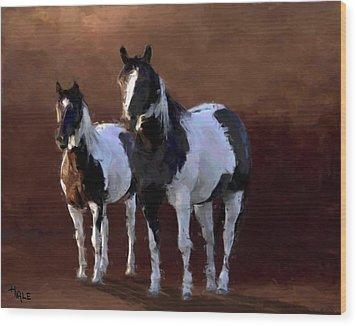 Painted Ponies Wood Print by Roger D Hale