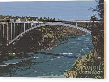Wood Print featuring the photograph Painted Rainbow Bridge by Jim Lepard