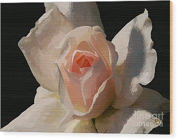 Painted Rose Wood Print by Lois Bryan