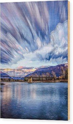 Painted Skies Wood Print by Aaron Aldrich