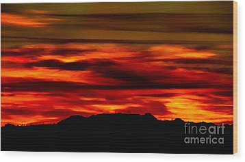 Wood Print featuring the photograph Painted Sky 34 by Mark Myhaver