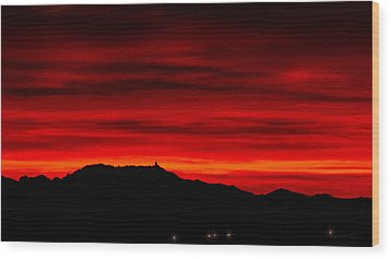 Wood Print featuring the photograph Painted Sky 36 by Mark Myhaver