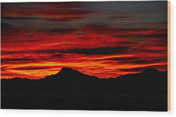 Wood Print featuring the photograph Painted Sky 45 by Mark Myhaver