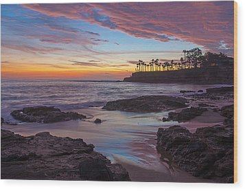 Painted Sky Laguna Beach Wood Print