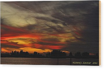 Wood Print featuring the photograph Painted Sky by Richard Zentner