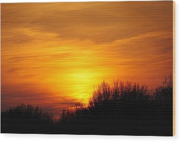 Painted Sky Wood Print by Frozen in Time Fine Art Photography