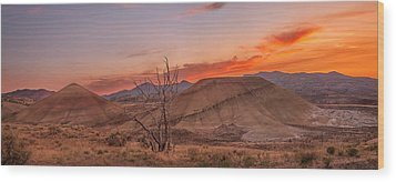 Painted Sunset Wood Print by Ryan Manuel