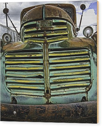 Painted With Rust Wood Print by Gary Neiss