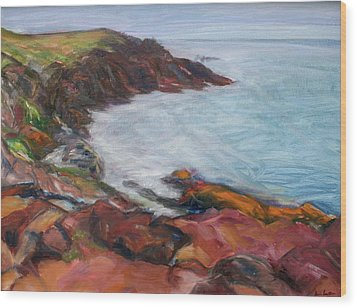 Painterly - Bold Seascape Wood Print by Quin Sweetman