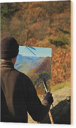 Painting Shenandoah Wood Print by Dan Sproul