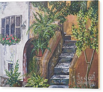 Painting    Siesta Steps Wood Print