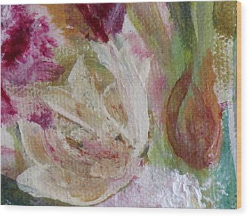 Painting Soft Flowers 2 Wood Print by France Laliberte