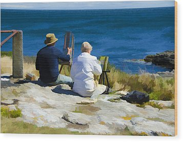 Painting The View Wood Print