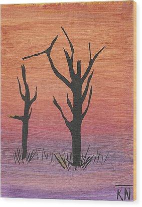 Painting4 Wood Print by Keith Nichols