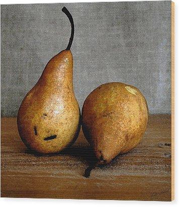 Pair Of Pears Wood Print by Cole Black