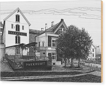 Pakkhuset Wood Print by Janet King