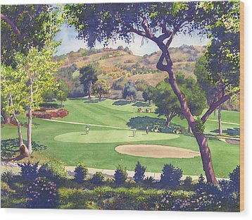 Pala Mesa Golf Course Wood Print by Mary Helmreich