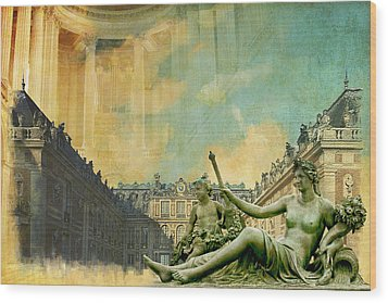 Palace And Park Of Versailles Unesco World Heritage Site Wood Print by Catf