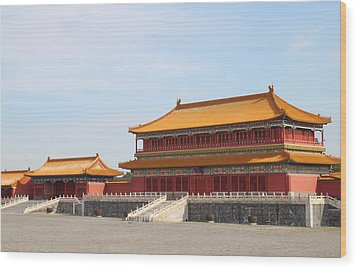 Palace Forbidden City In Beijing Wood Print by Thanapol Kuptanisakorn