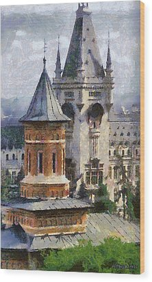 Palace Of Culture Wood Print by Jeffrey Kolker