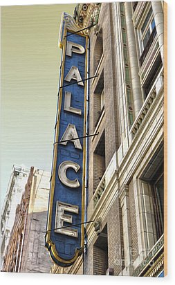 Palace Theater In Downtown Los Angeles Wood Print by Gregory Dyer