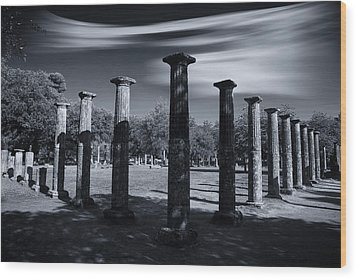 Wood Print featuring the photograph Palaestra At Olympia by Micah Goff