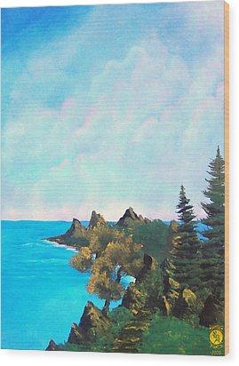 Palawan Wood Print by Richard Bantigue