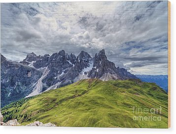 Wood Print featuring the photograph Pale San Martino - Hdr by Antonio Scarpi