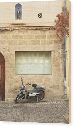 Wood Print featuring the photograph Pale Shutters by Colleen Williams