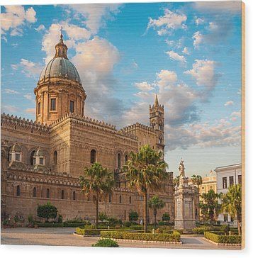 Palermo Cathedral Wood Print