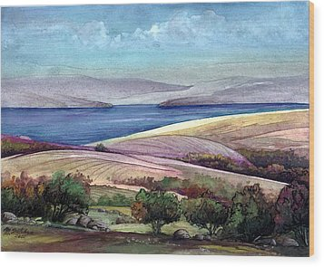Palestine View Wood Print