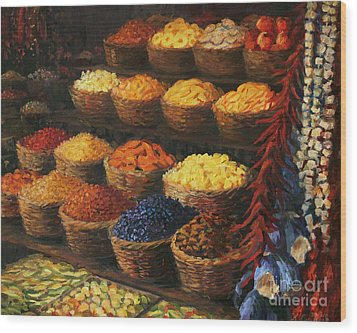 Palette Of The Orient Wood Print by Kiril Stanchev