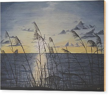 Palm Beach Sunrise Wood Print by Hilda and Jose Garrancho