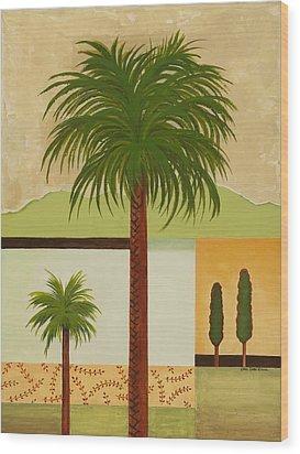 Palm Desert Wood Print by Carol Sabo