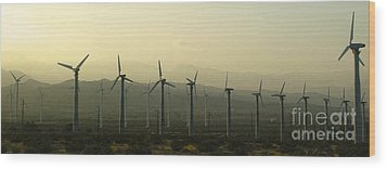 Palm Desert Wind Mills Wood Print by Gregory Dyer