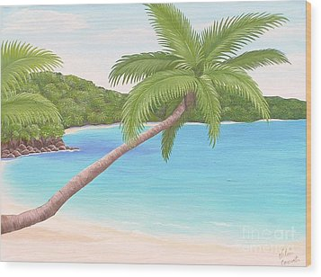 Palm In Paradise Wood Print