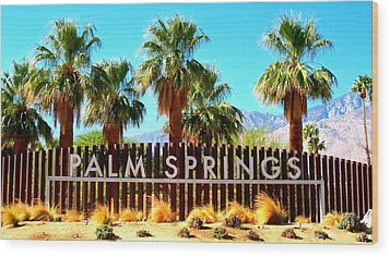 Palm Springs 1 Wood Print