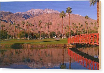 Palm Springs Wood Print by Chris Tarpening